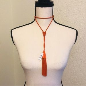 Kendra Scott Phara Lariat necklace in Orange